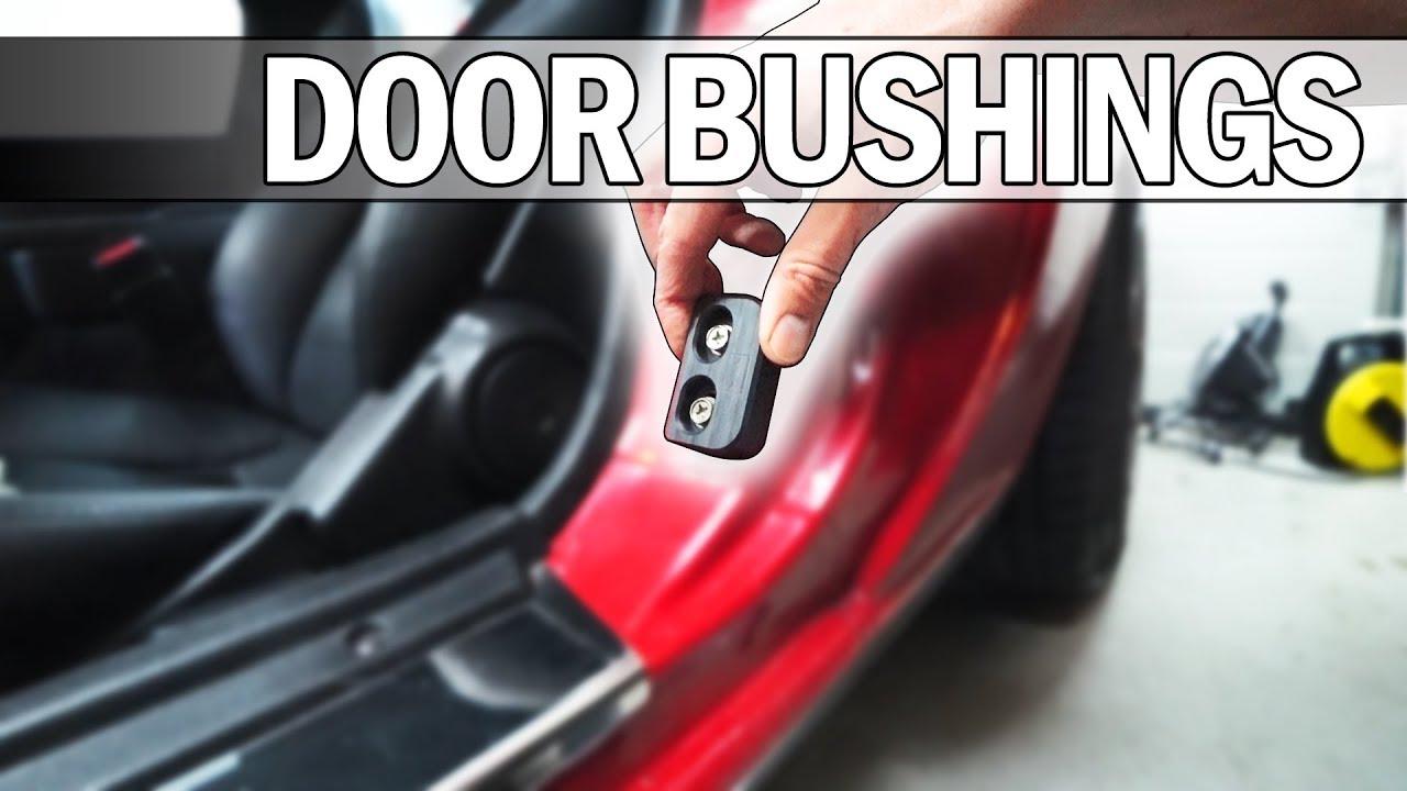 MX5 NA Miata - How to install Delrin door bushings & MX5 NA Miata - How to install Delrin door bushings - YouTube