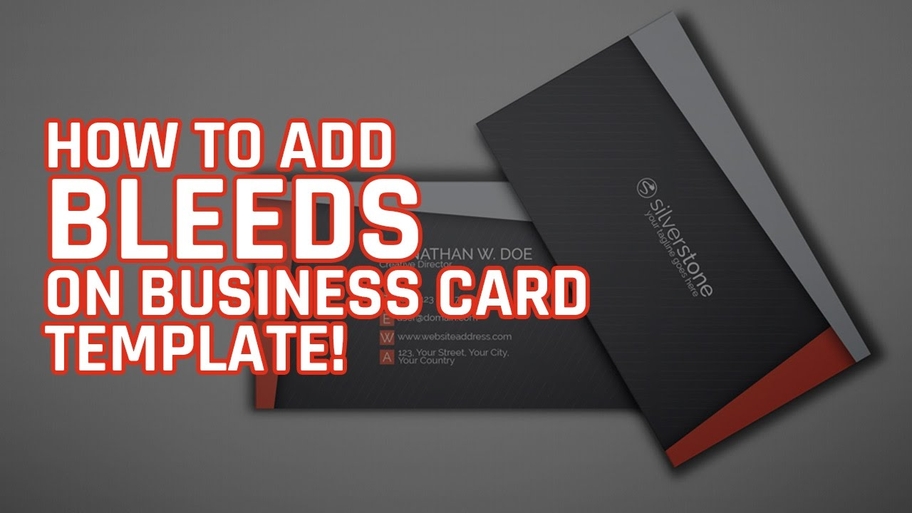 How to setup a business card with bleeds photoshop tutorial youtube how to setup a business card with bleeds photoshop tutorial accmission Choice Image