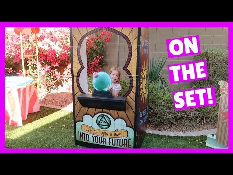 Cleaning out the Garage + Getting Ready to Film our Fortune Teller Toy Carnival Video