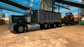 American Truck Simulator: TRAYSCAPES W900L dump truck and Eager Beaver trailer