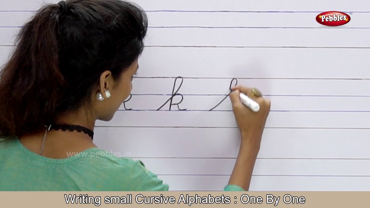 Cursive Writing For Beginners Step by Step  Writing Small Cursive Letters   Handwriting Practice