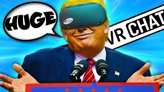 HILARIOUS DONALD TRUMP IMPRESSION ON VRCHAT!!!
