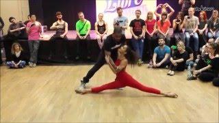 Carlos & Fernanda Da Silva - Improvised dance demo (Zouk Libre Festival 2016)