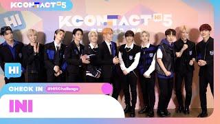 KCON official:#HI5Challenge 🙋♂   INI (아이엔아이)   KCON:TACT HI 5