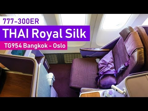 FINALLY, Thai Airways 777-300ER Royal Silk Class | Bangkok - Oslo