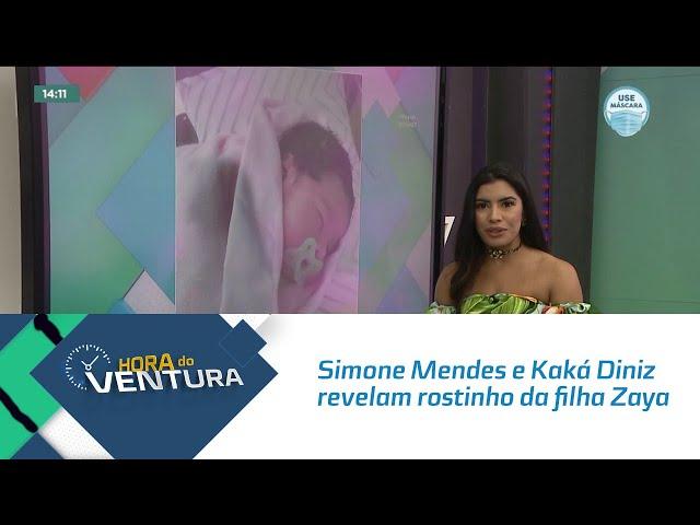 Simone Mendes e Kaká Diniz revelam rostinho da filha Zaya