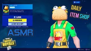 ASMR | Fortnite NEW Guaco Skin and Taco Time Emote! Item Shop Update 🎮🎧Relaxing Whispering😴💤