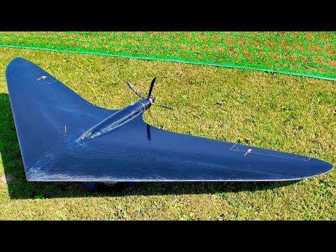 BRUTAL RC SPEED GIANT RC HORTEN NURI 337KMH 210MPH FLIGHT DEMONSTRATION WITH TRICKY LANDING