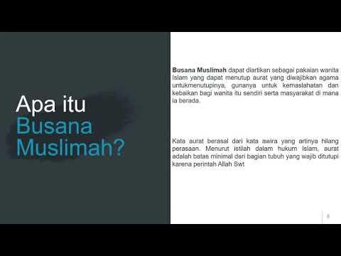 Berbusana Muslim Dan Muslimah Merupakan Cermin Kepribadian Dan Keindahan Diri Youtube
