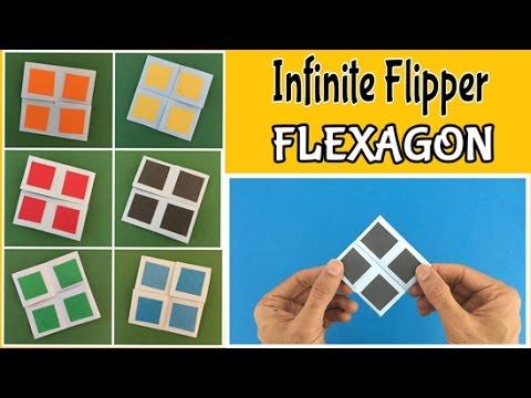 INFINITE FLIPPER | FLEXAGON - DIY Tutorial By Paper Folds #714