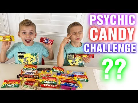 Twin Telepathy Candy Challenge! Last to Stop Eating Wins!
