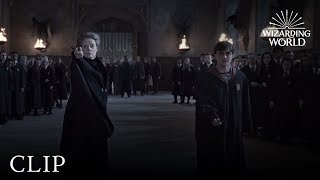 Wizard Duel: Minerva McGonagall vs Severus Snape | Harry Potter and the Deathly Hallows Pt. 2