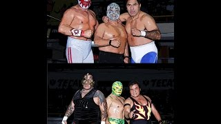 Solar, Super Astro y Blue Panther vs Satánico, Pirata Morgan y Fishman Jr.