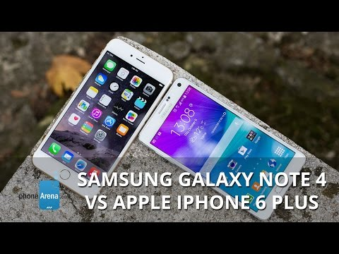 Samsung Galaxy Note 4 vs Apple iPhone 6 Plus