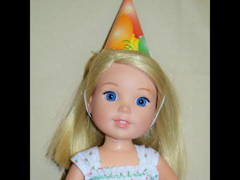 DIY Party Hat For American Girl Wellie Wishers