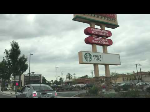 Overcast day in Downey, California. Imperial Hwy