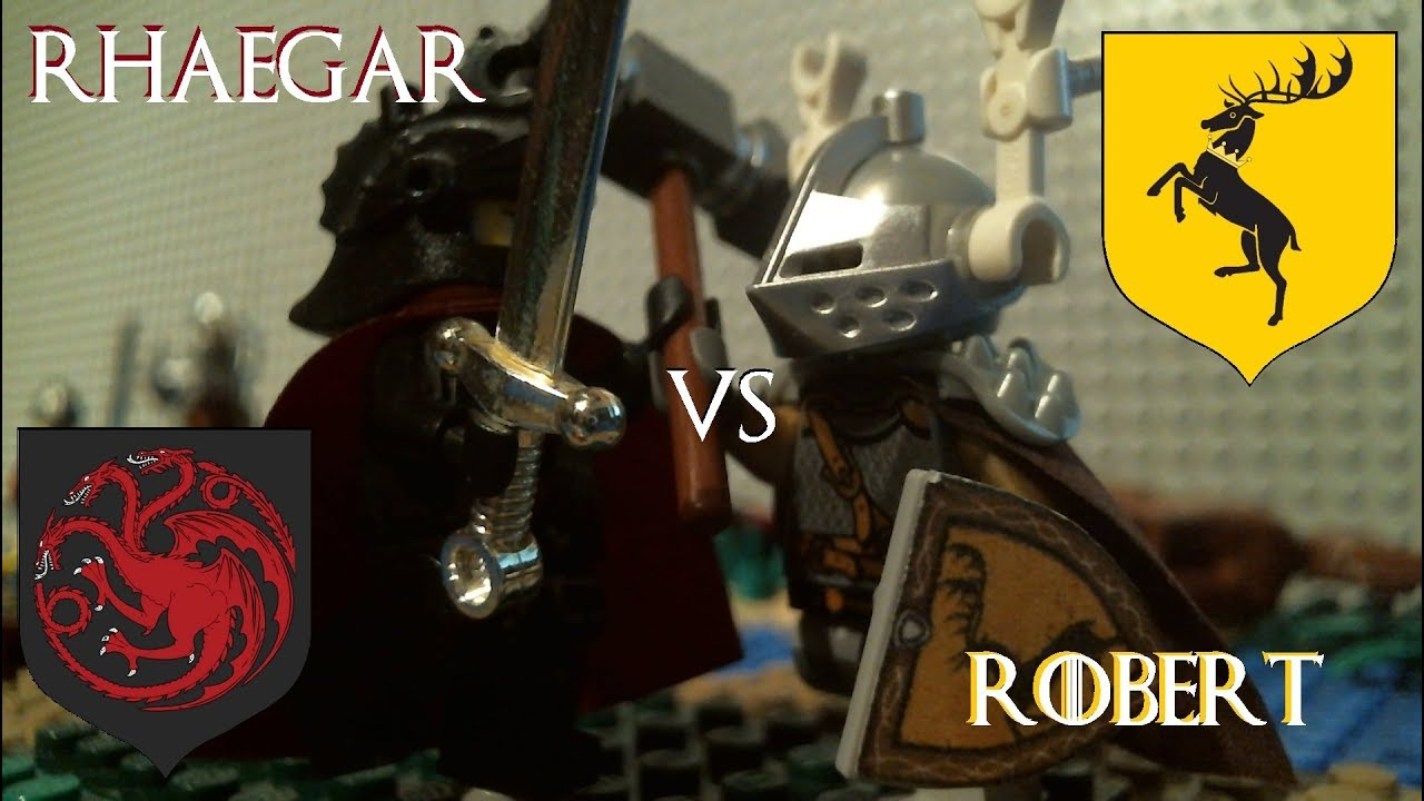 lego game of thrones robert baratheon vs rhaegar targaryen youtube