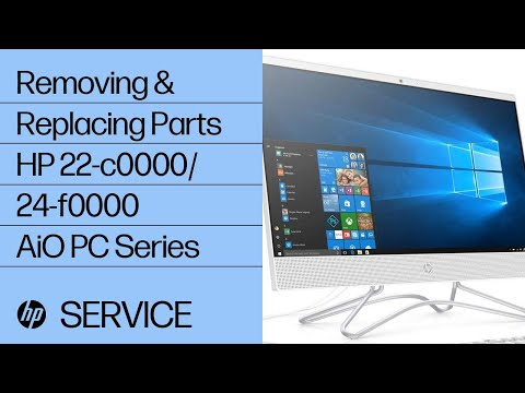 Removing & Replacing Parts   HP 22-c0000/24-f0000 AiO PC Series   HP Computer Service   @HPSupport