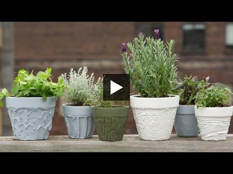 Amazing Interior Design U2014 DIY Easy Sculpted U0026 Painted Plant Pots