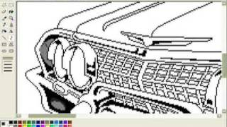 How to draw the LOWRIDER in MS Paint