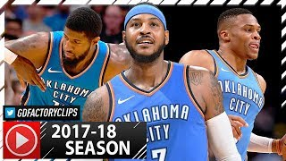 Russell Westbrook, Carmelo Anthony & Paul George BIG 3 Highlights vs Nuggets (2017.10.10) - EPIC!