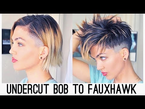 UNDERCUT BOB TO FAUX HAWK - YouTube