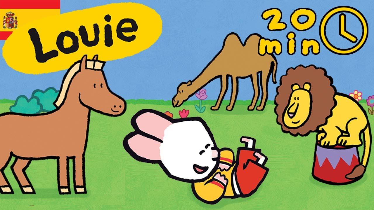 Louie dibujame animales de circo - Compilación | Dibujos animados ...
