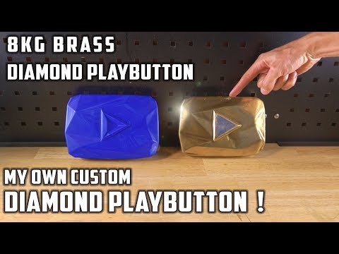 Casting Brass Diamond Playbutton YouTube Award From Bullet Shells