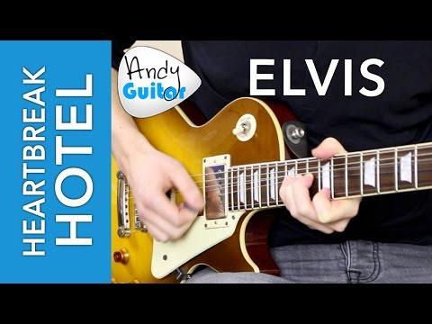 Heartbreak Hotel SOLO - Lead Guitar Lesson Tutorial  (Elvis, Scotty Moore)