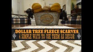 🍂❄️🍂❄️ DOLLAR TREE SCARVES 🍂❄️🍂❄️4 SIMPLE WAYS TO USE THEM AS DECOR🍂❄️🍂❄️