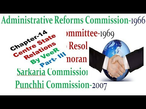 L-37- Committee & Commission Related to centre & State Relation (Laxmikanth - Indian Polity) By VeeR