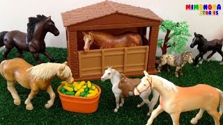 Animales de la Granja 🐷🐮 Caballo Vaca Cerdo Gallo | Farm Animals Silly Sounds | Mimonona Stories