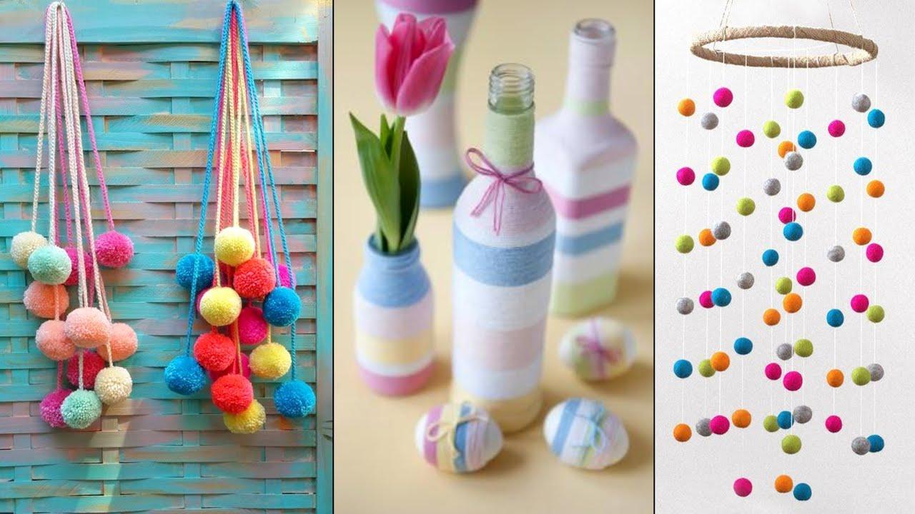 10 Beautiful Home Decor Wall hanging Ideas !!! DIY Craft