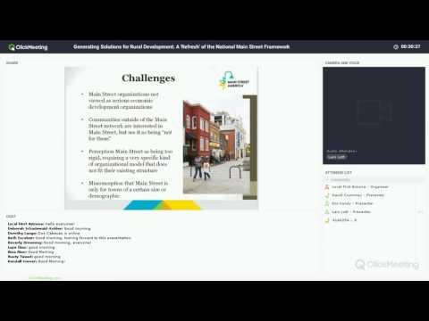 Solutions for Rural Development: A 'Refresh' of the National Main Street Framework