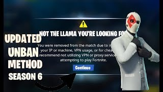 *UPDATED* How To Get *Unbanned* on FORTNITE SEASON 6 (HWID Bypass) *WORKING* 2018