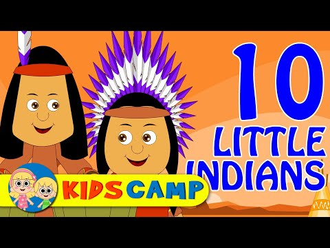 Ten Little Indians  Nursery Rhymes  Popular Nursery Rhymes  KidsCamp