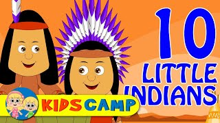 Ten Little Indians | Nursery Rhymes And Kids Songs by KidsCamp