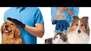 Дешёвая перчатка с силиконовой вставкой для ухода за шерстью домашних животных.