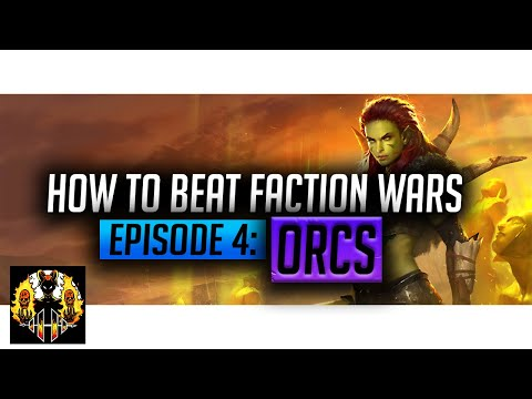 RAID: Shadow Legends | How to beat Faction Wars, Episode 4: Orcs! Level 21 completed first time!