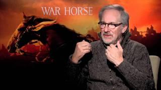 WAR HORSE Interview With Steven Spielberg - Talks Jaws, Saving Private Ryan, ET