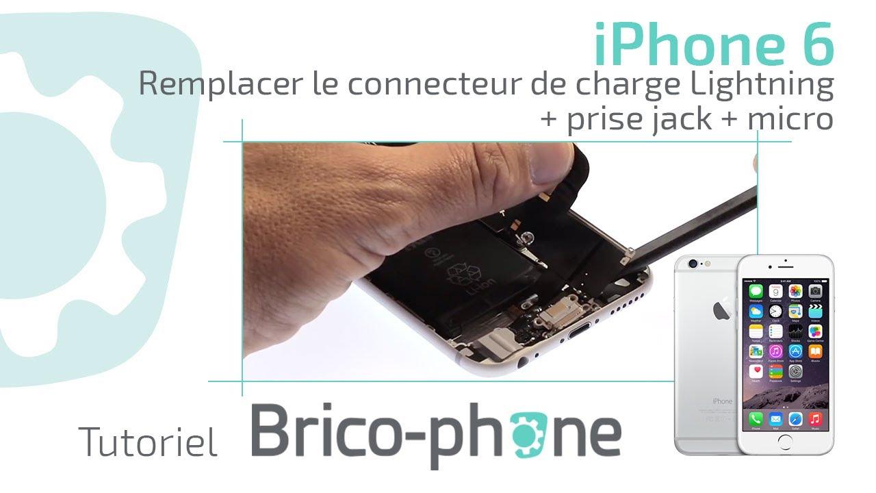 tuto iphone 6 changer le connecteur lightning de charge prise jack micro youtube. Black Bedroom Furniture Sets. Home Design Ideas
