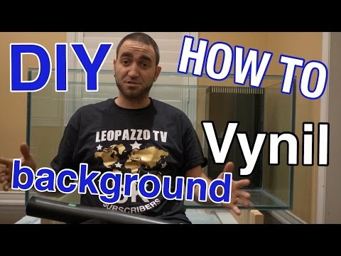 HOW TO INSTALL VYNIL BACKGROUND ON A FISH TANK ( 120G REEF TANK BUILD ) PART 11