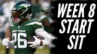 Fantasy Football 2019 Week 8 Start 'em Sit 'em (TIMESTAMPS)