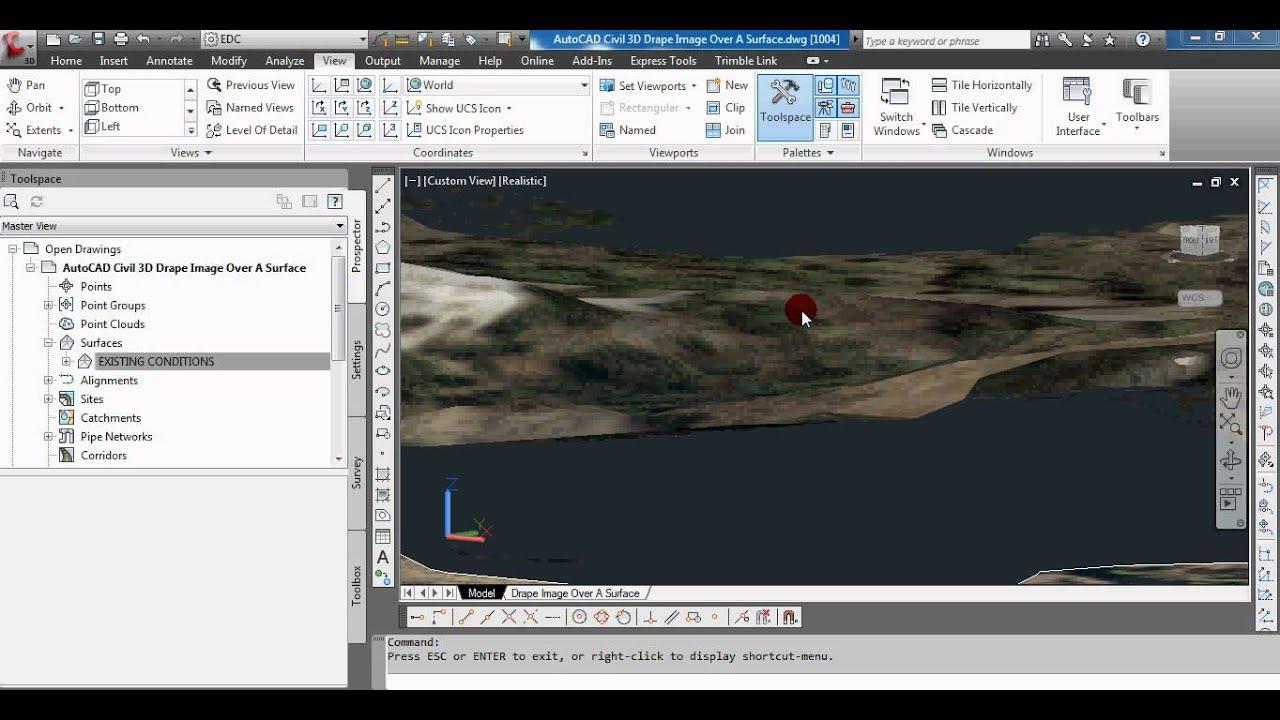 AutoCAD Civil 3D Drape Images Over A Surface