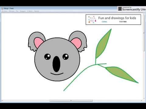 How To Draw A Easy Kawaii Koala For Kids With Song - YouTube