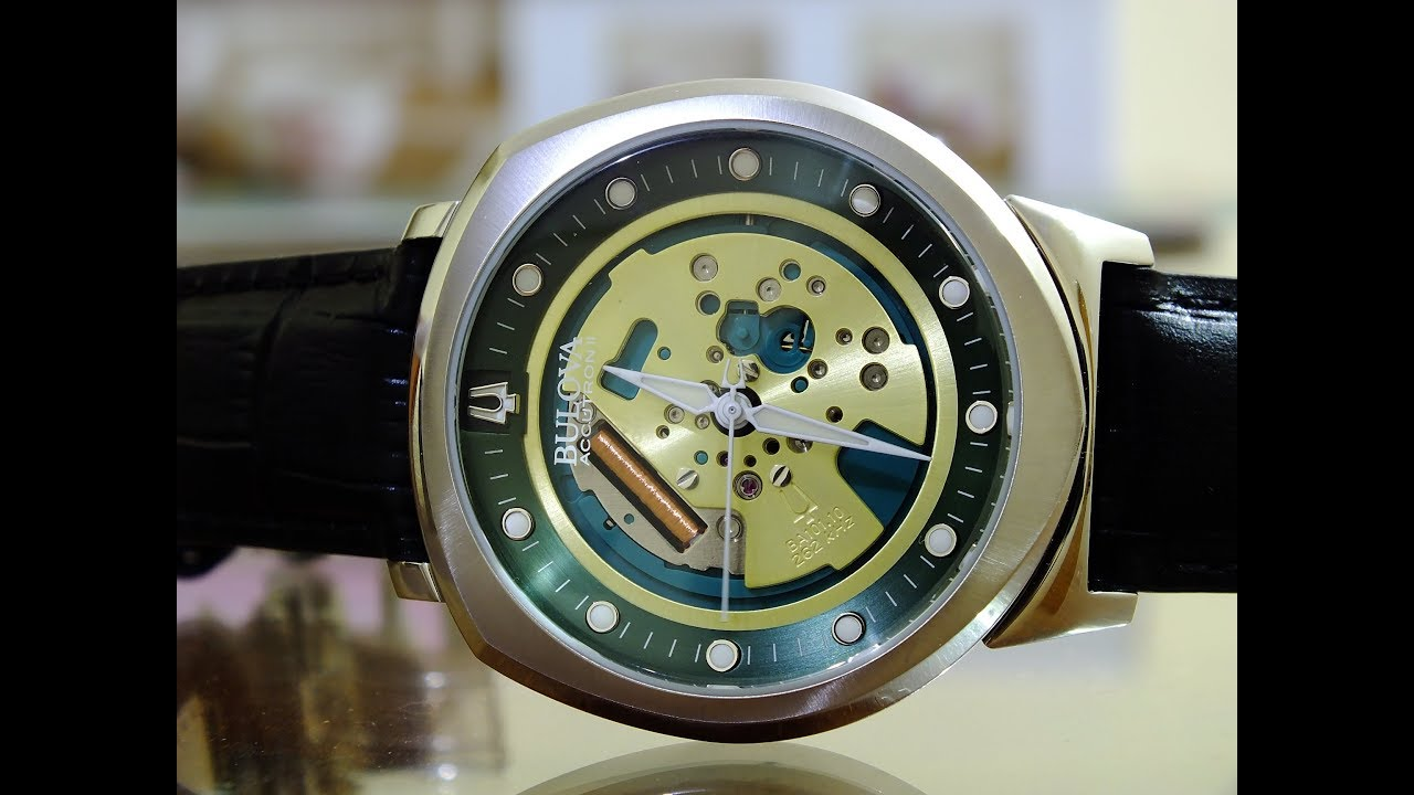3c5aa87df Bulova Accutron II Alpha Precisionist Spaceview 96A155 - YouTube
