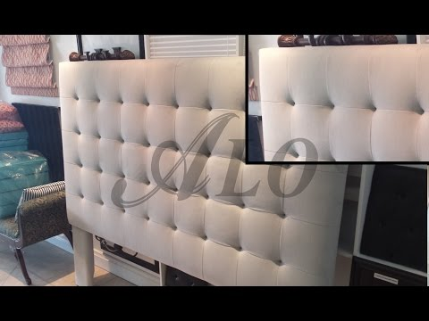 DIY: BUTTONLESS TUFTED HEADBOARD -  ALO Upholstery