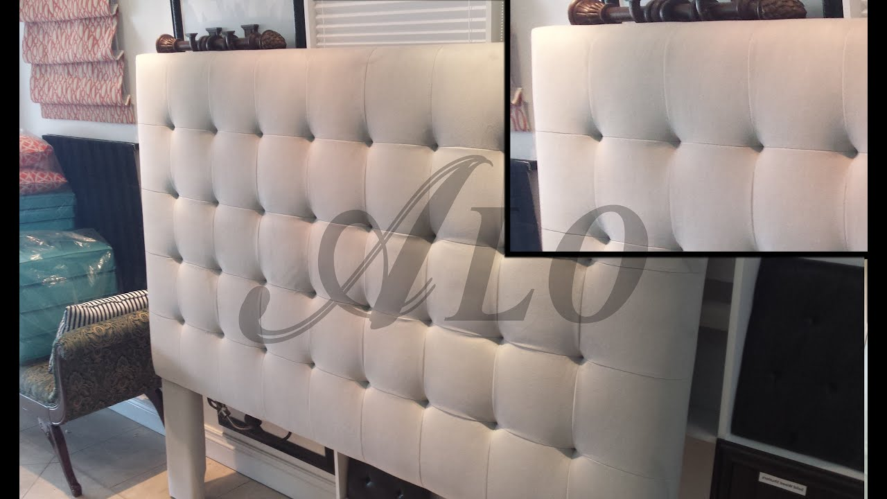 DIY  BUTTONLESS TUFTED HEADBOARD   ALO Upholstery   YouTube
