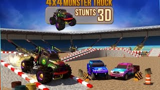 4x4 Monster Truck Stunts 3D - Android Gameplay HD