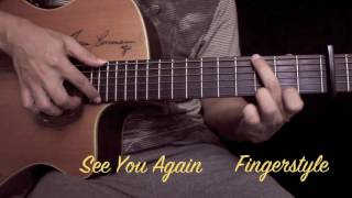 See You Again-Wiz Khalifa Feat.Charlie Puth Fingerstyle Guitar Cover by toeyguitaree (TAB)